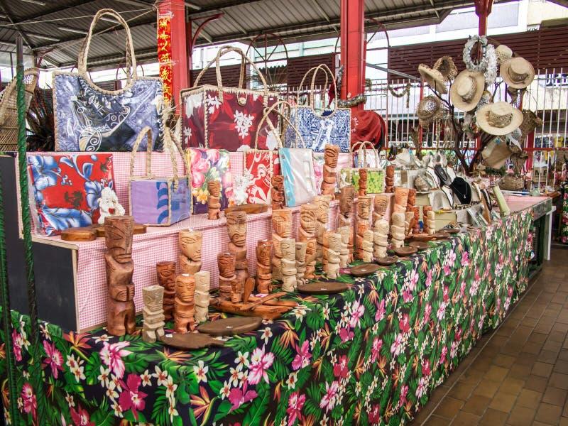 Städtischer Markt Papeetes, Tahiti, Französisch-Polynesien lizenzfreie stockbilder