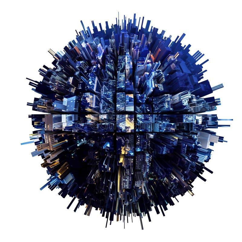 städtischer Planet 3D stock abbildung