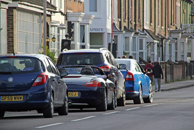 Städtischer Stadtverkehr lizenzfreies stockbild