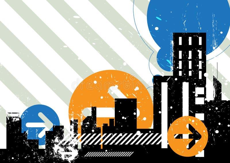 Städtischer Szenenhintergrund vektor abbildung