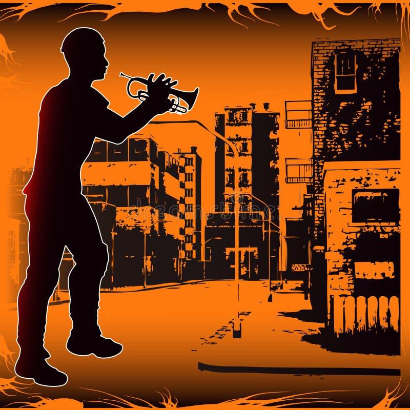 Städtischer Trompeter vektor abbildung