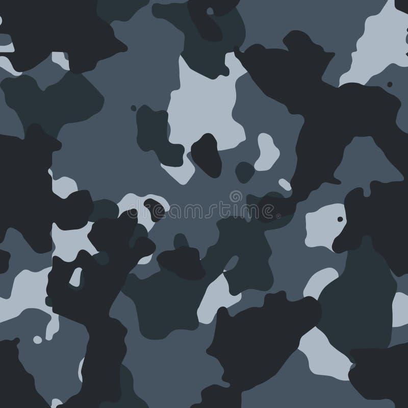 Städtisches blaues nahtloses camo Muster stock abbildung