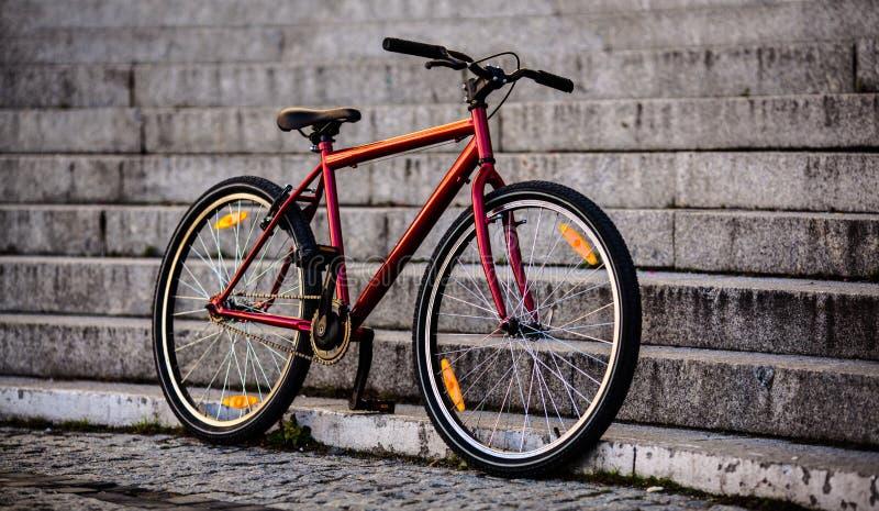 Städtisches Fahrrad stockbilder