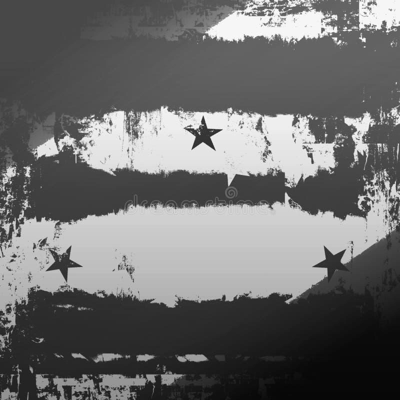 Städtisches Grunge mit Sternen lizenzfreie abbildung