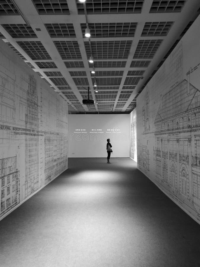 Städtisches meseum Shanghais stockfotos