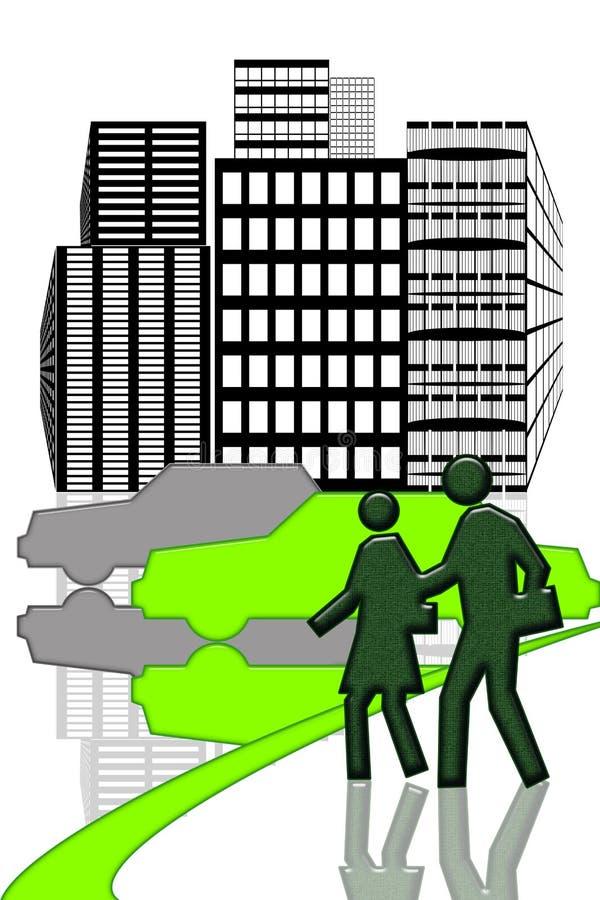 Städtisches Stadtzentrum lizenzfreie abbildung