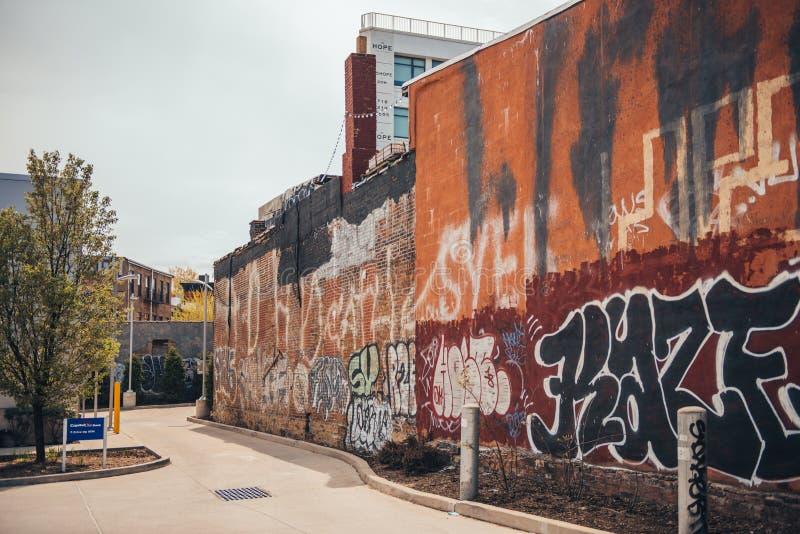 Städtisches Straßenbild in Williamsburg, Brooklyn stockfotos