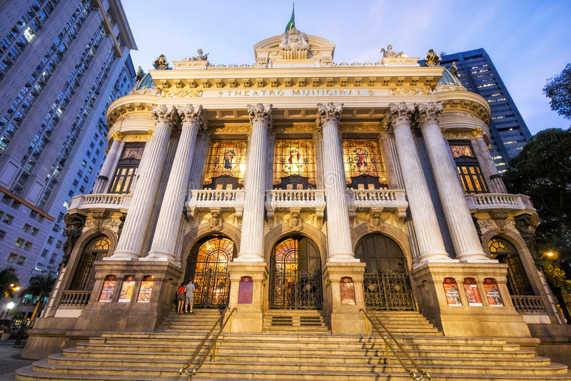 Städtisches Theater in Rio de Janeiro, Brasilien stockfotografie