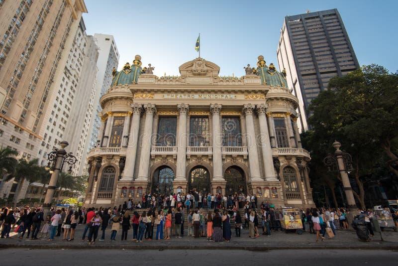 Städtisches Theater von Rio de Janeiro lizenzfreies stockfoto