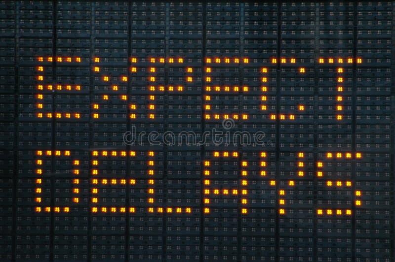 Städtisches Verkehrsstockung-Zeichen lizenzfreies stockfoto