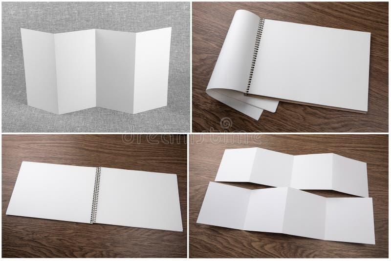 Ställ in av anteckningsböcker och häften arkivbilder