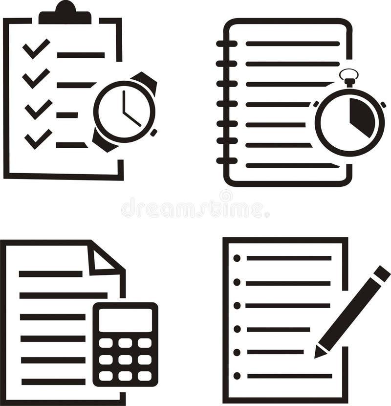 Ställ in av anteckningsbokvektor vektor illustrationer
