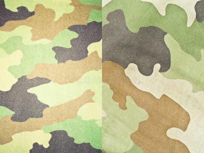 Ställ in av armén och militära bakgrunder och texturer royaltyfri fotografi