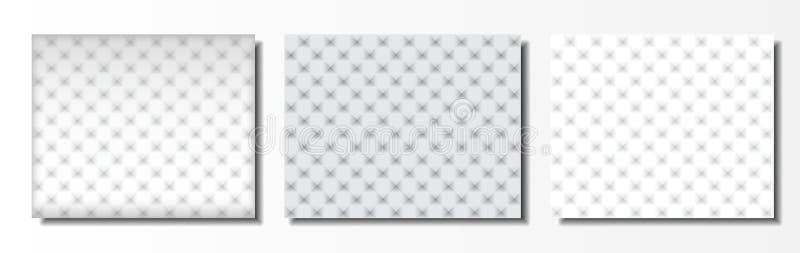 Ställ in av bakgrund för tre mallar som göras av trianglar med effekt 3d royaltyfri illustrationer