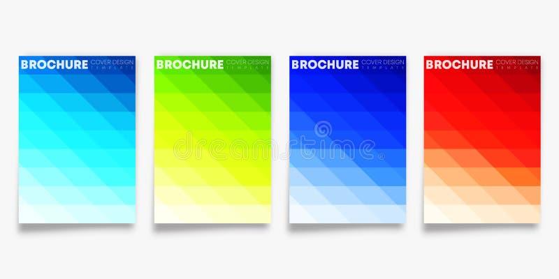 Ställ in av den färgrika designen för lutningräkningsmallen för reklamblad, affisch, broschyr, typografi eller andra utskrivande  vektor illustrationer