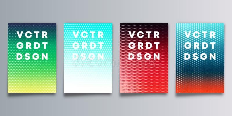 Ställ in av den färgrika lutningräkningen med den rastrerade modellen för reklamblad, affisch, broschyr, typografi eller andra ut vektor illustrationer