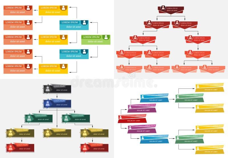 Ställ in av den färgrika strukturen för affär fyra vektor illustrationer