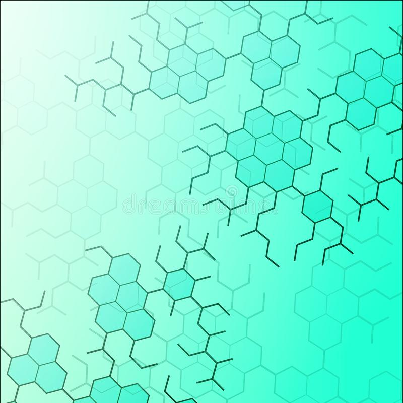 Ställ in av digitala bakgrunder för illustration för vektor för dna-molekylstruktur vektor illustrationer