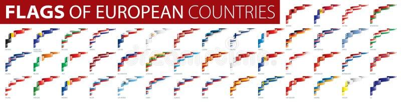 Ställ in av flaggor av Europa ocks? vektor f?r coreldrawillustration royaltyfria foton