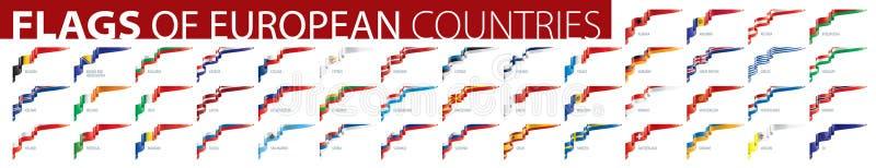 Ställ in av flaggor av Europa ocks? vektor f?r coreldrawillustration royaltyfri foto