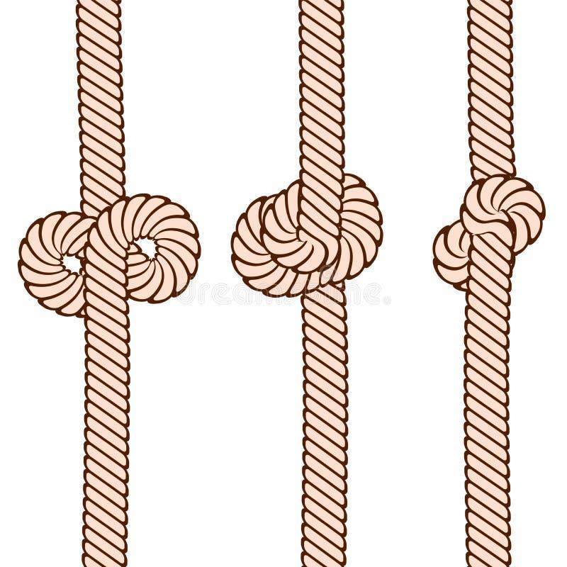 Ställ in av fnuren på repet på vitt, materielvektorillustration royaltyfri illustrationer