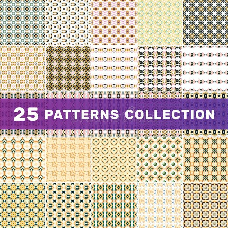 Ställ in av 25 geometriska abstrakta modeller royaltyfri foto