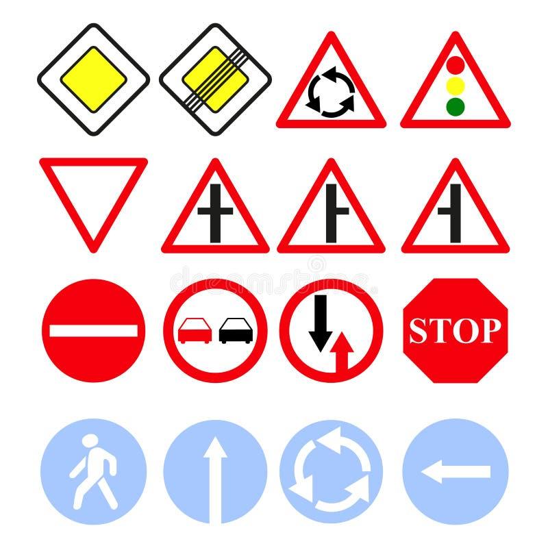 Ställ in av huvudvägen av teckensymboler vektor illustrationer