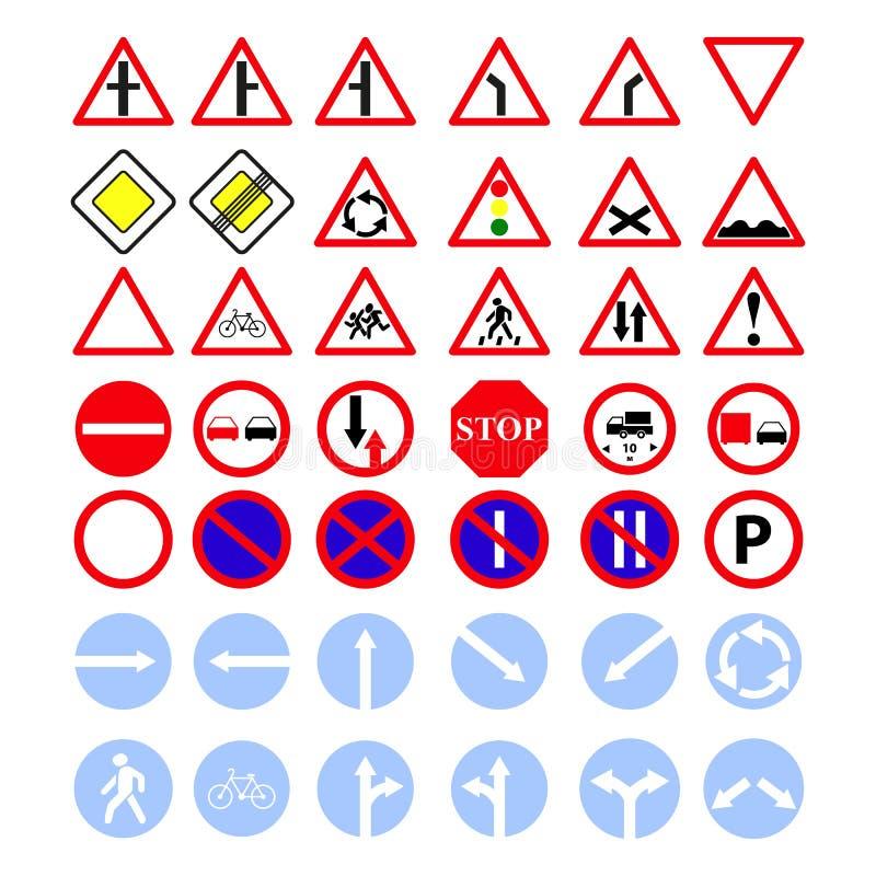 Ställ in av huvudvägen av teckensymboler royaltyfri illustrationer