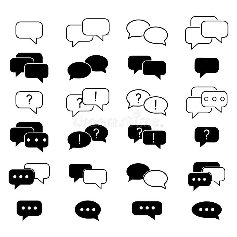 Ställ in av informationen om symboler för smsmeddelandekontakten vektor illustrationer