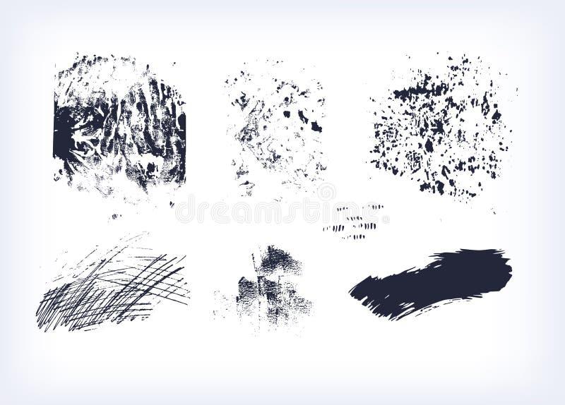 Ställ in av isolerad samlingsslaglängd för texturer vektorn stock illustrationer