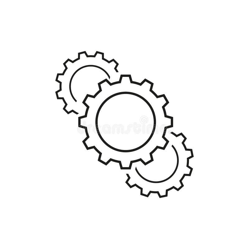 Ställ in av kugghjulequipmen av affärssymboler vektor illustrationer