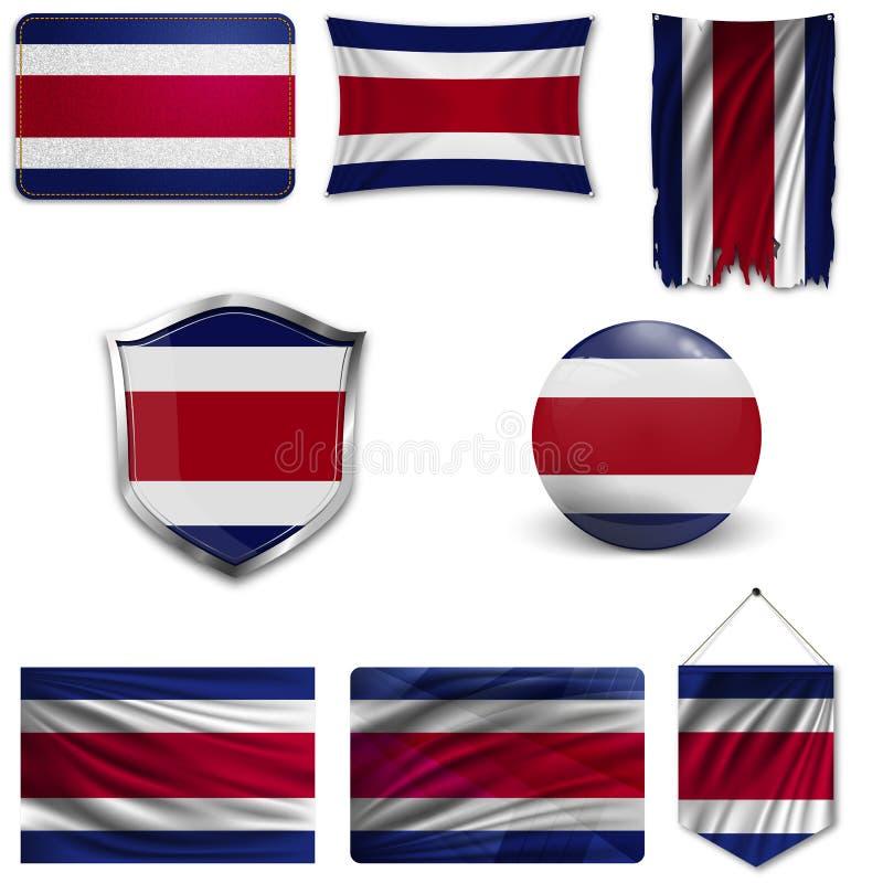 St?ll in av nationsflaggan vektor illustrationer