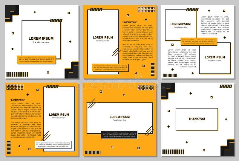 Ställ in av redigerbar fyrkantig banermall Redigerbart baner för sociala massmediastolpe- och rengöringsduk-/internetannonser Red vektor illustrationer