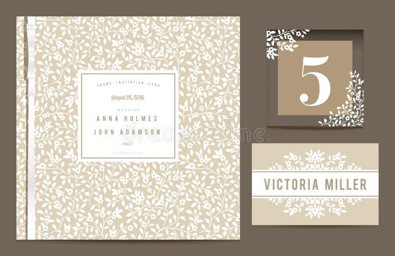 Ställ in bakgrunder för att fira bröllopet. vektor illustrationer