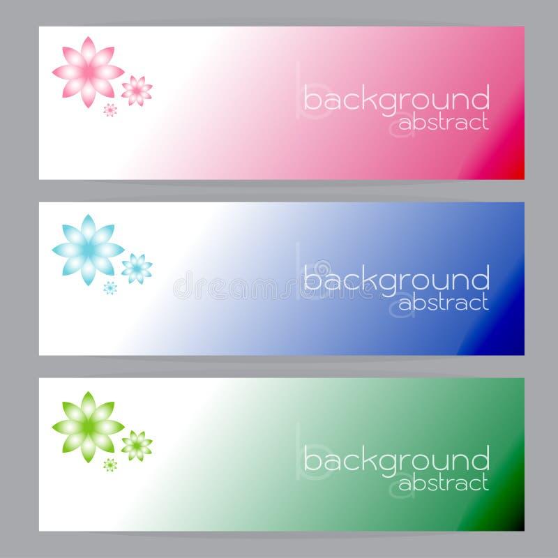 Ställ in baner gör sammandrag gräsplan för ram för titelrader tre rosa blå vektor illustrationer