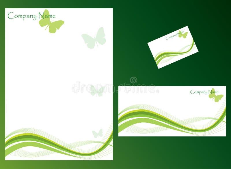 ställ in brevpapper royaltyfri illustrationer