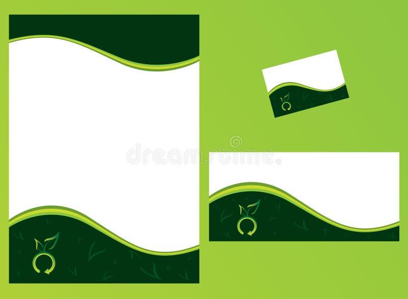 ställ in brevpapper stock illustrationer