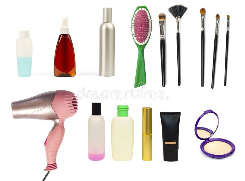 Ställ in för makeup arkivbilder