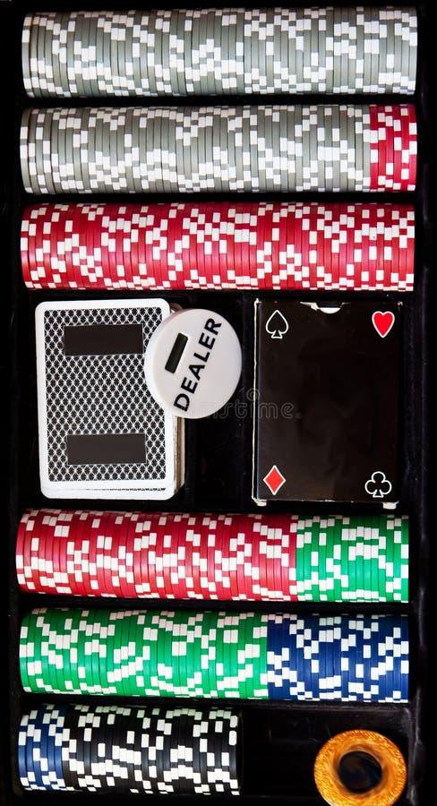 Ställ in för poker fotografering för bildbyråer