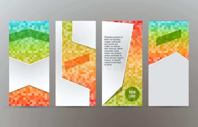 Ställ in för reklambladorienteringen för mallar vertikalt glöd effect03 vektor illustrationer