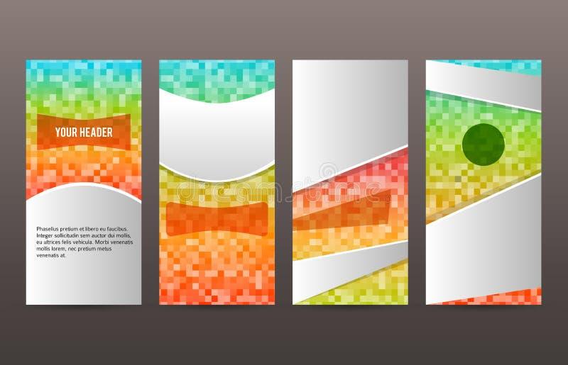 Ställ in för reklambladorienteringen för mallar vertikalt glöd effect02 stock illustrationer