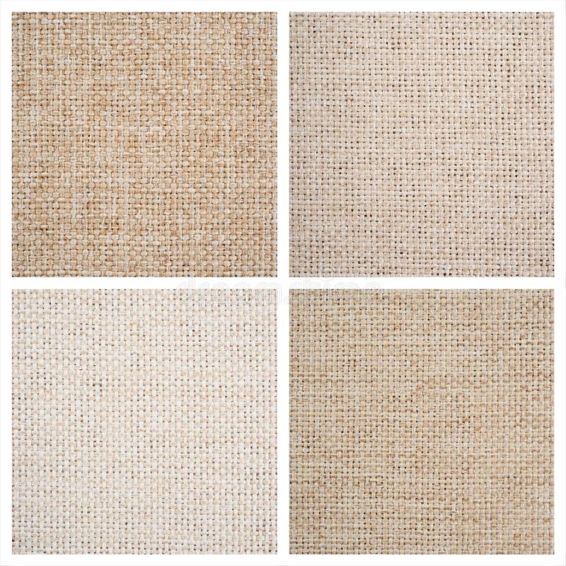 Ställ in från fyra textilbakgrunder royaltyfri foto