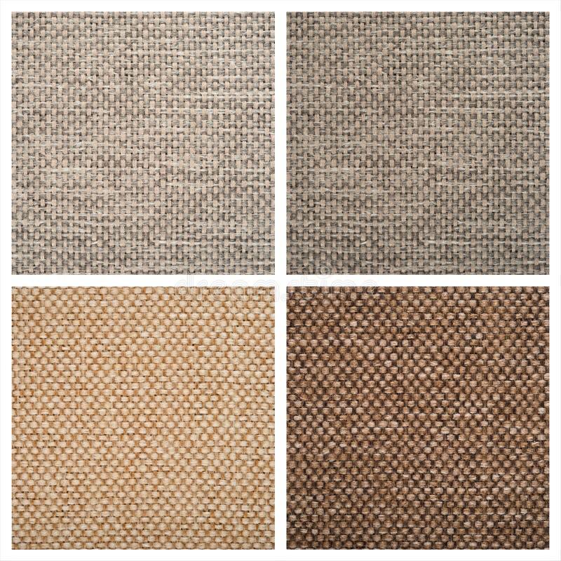 Ställ in från fyra textilbakgrunder royaltyfria bilder