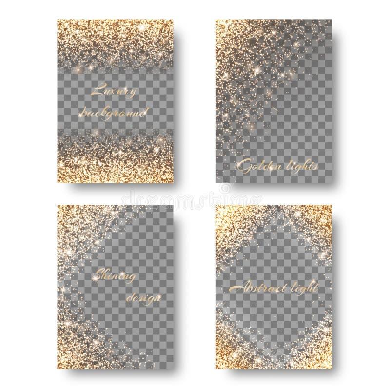 Ställ in genomskinlig bakgrund för diamanten royaltyfri illustrationer