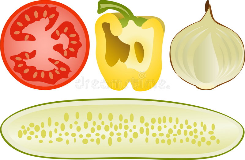 ställ in grönsaker royaltyfri illustrationer