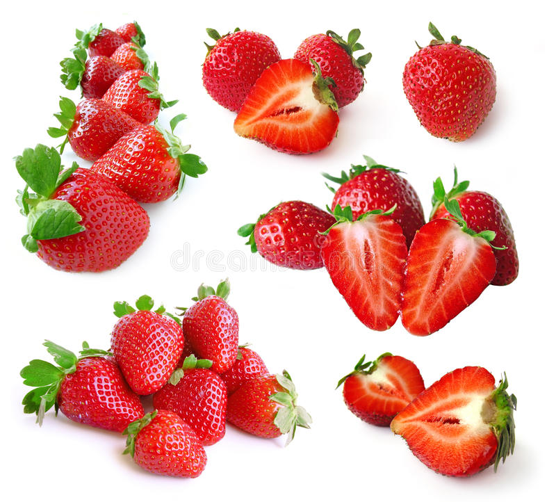 ställ in jordgubben arkivbild