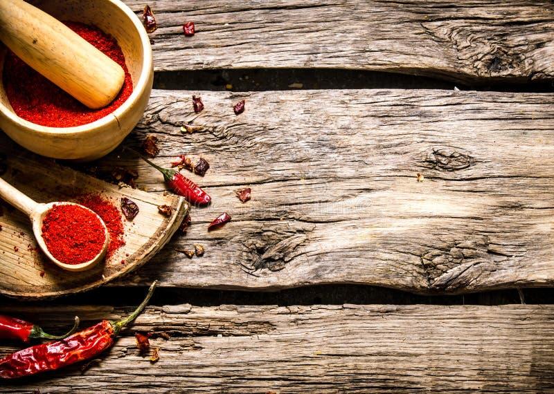 ställ in kryddor royaltyfria bilder