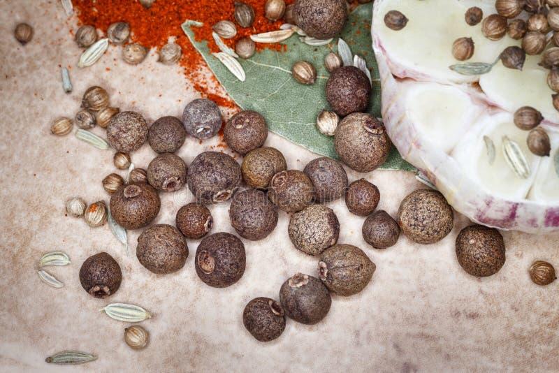 ställ in kryddor arkivfoto