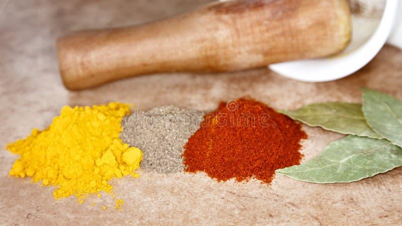 ställ in kryddor arkivbild