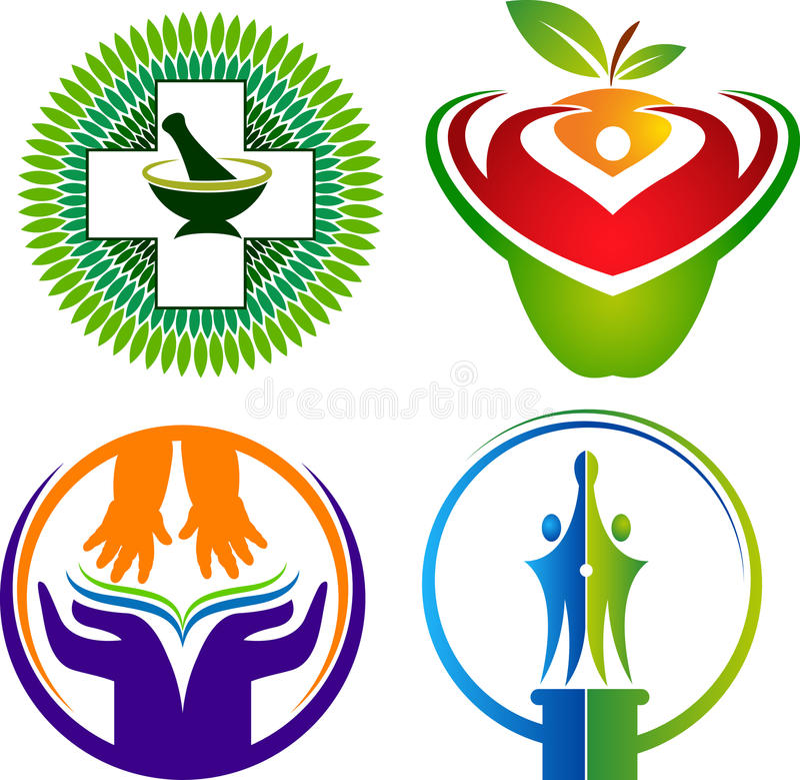 Ställ in logosamlingar vektor illustrationer